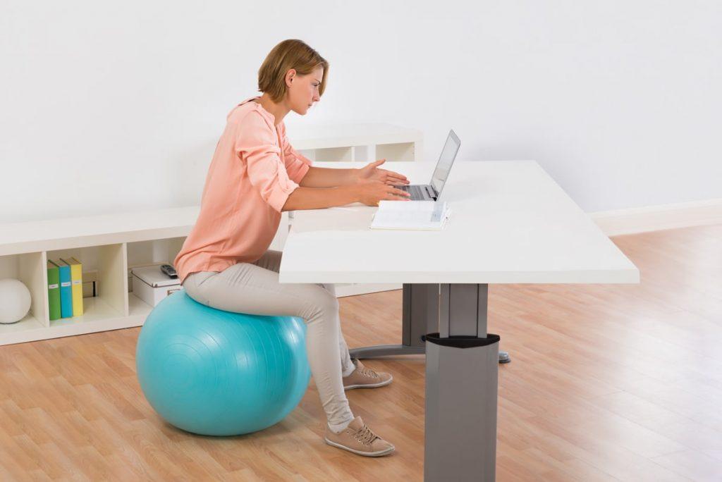 siege ballon bureau ergonomie
